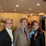 Thorsten Brehm, EU-Kommissar Johannes Hahn, Katja Strohhacker