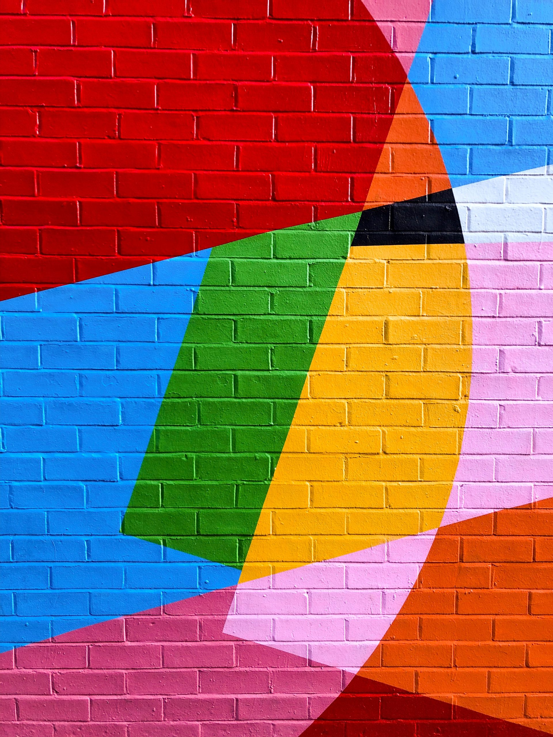 pink and yellow wall paint
